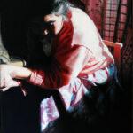 Retrato mapuche al óleo